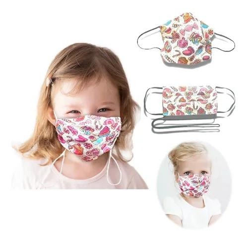 Máscara Infantil Tecido Lavável Dupla Proteção Clipe