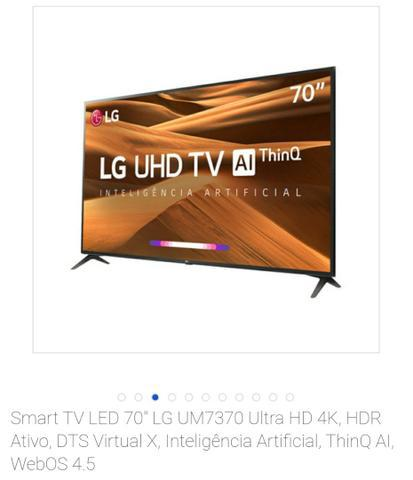 Smart TV LED 70 LG UM7370 Ultra HD 4K,LACRADA NA CAIXA, NOTA