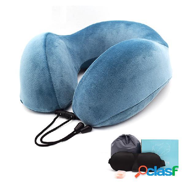Travesseiros de pescoço em espuma de memória em forma de u