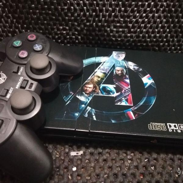 playstation 2 desbloqueado e reformado com 10 jogos e 1
