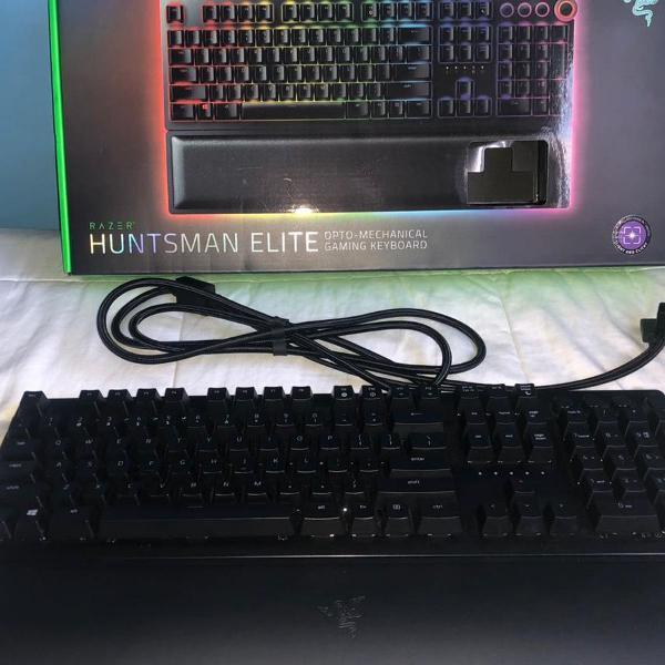 teclado razer huntsman elite opto mechanical semi novo