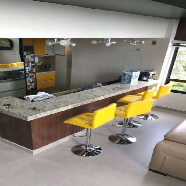 Loft Duplex luxo, 73m, semi mobiliado, 5 andar, 2 garagens