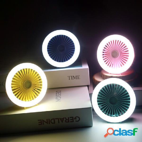 Portátil mini usb ventilador de mesa LED ventilador de mesa