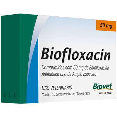 Antibiótico Biofloxacin Biovet 50 mg