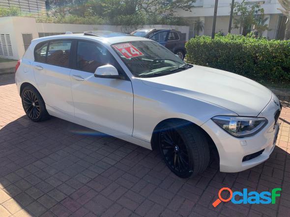 BMW BMW 118I + TETO 2014 BRANCO 2014 1598CC GASOLINA