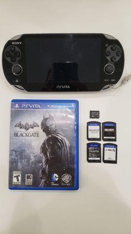 Ps Vita completo com jogos cartão de memória original e
