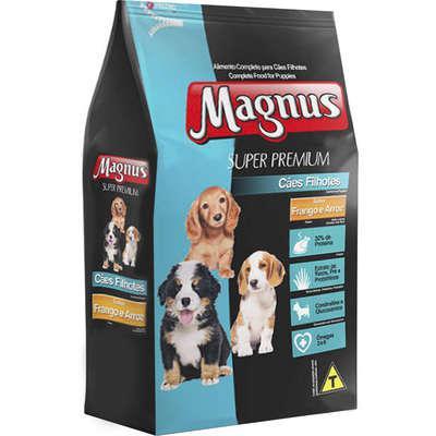 Ração Magnus Super Premium Frango e Arroz Cães Filhotes