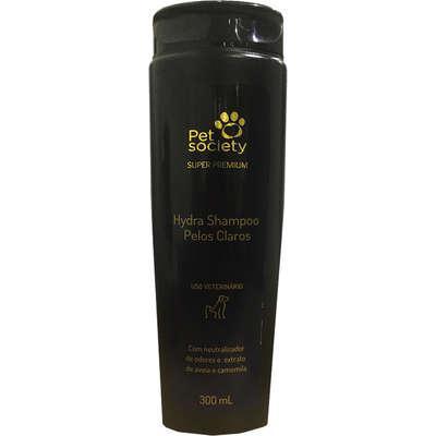 Shampoo Pet Society Pelos Claros para Cães e Gatos - 300 mL