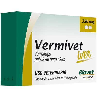 Vermífugo Biovet Vermivet Iver 330 mg para Cães