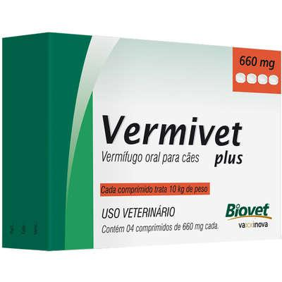 Vermífugo Biovet Vermivet Plus 660 mg para Cães