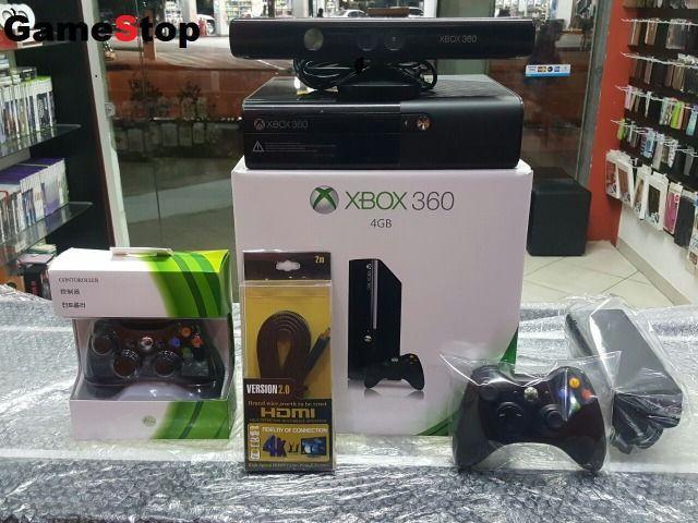 Xbox 360 Completo com Kinect/Destravado c/HD Original com