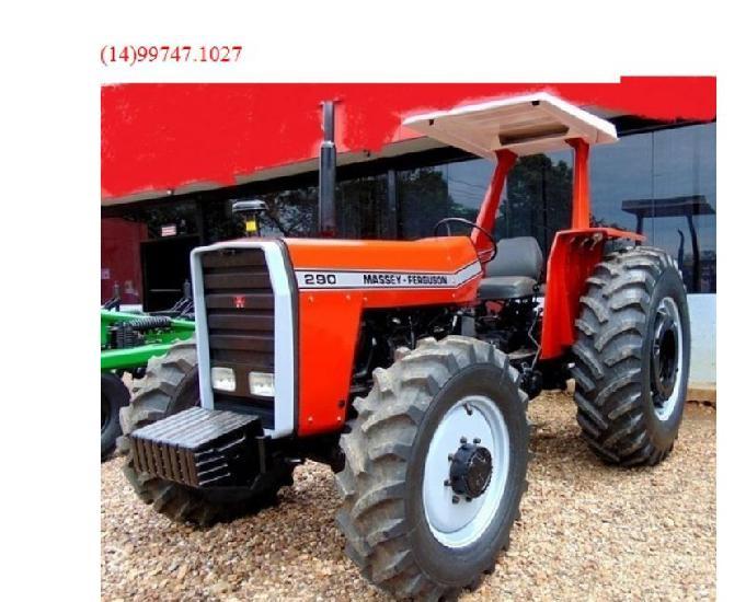 Trator Massey Ferguson 290 4x4 ano 1985 c Reduto