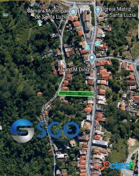 Lote de 1.134m² na Rua do Serro, Centro de Santa Luzia-MG