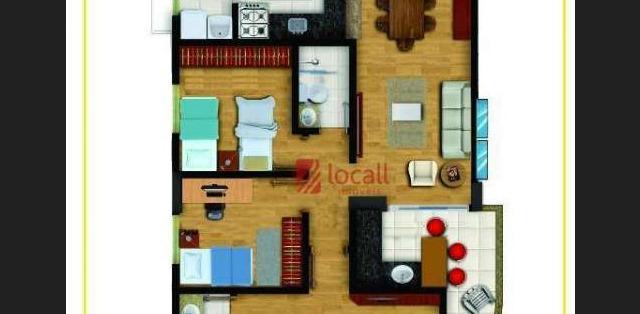 Apartamento residencial à venda, Vila Cristina, São José