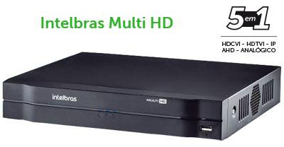 DVR Multi HD 5 em 1 Intelbras MHDX 1104 até 5 câmeras