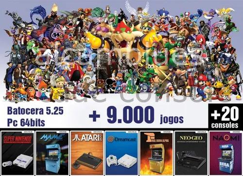 Kit Multijogos Batocera +9000 Games - Hd Externo 500gb Pc-64