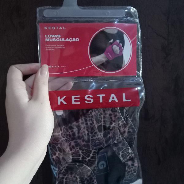 Luvas para musculação estampa de oncinha Kestal