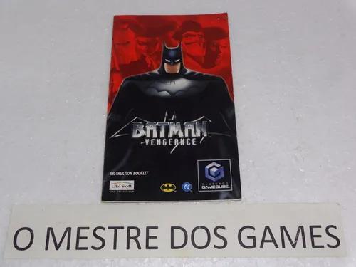 Somente O Manual Do Jogo Batman Vegeance Para Game Cube #2