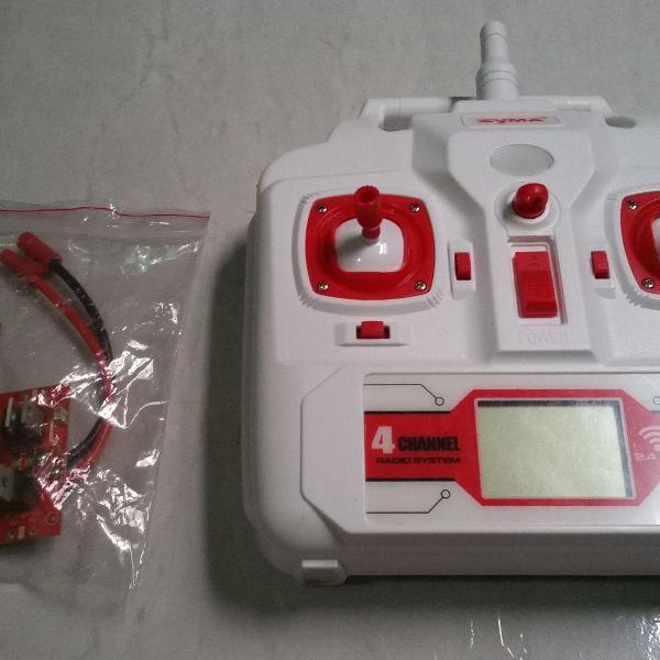 Syma X8 Upgrade Radio Stick No Meio + Placa Com Barômetro