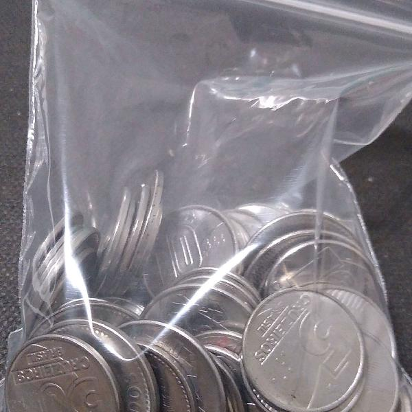 55 moedas de inox