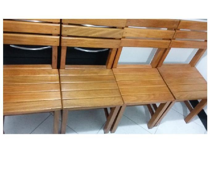 Cadeiras Madeira Maciça Para Mesa De Jantar kit(06)