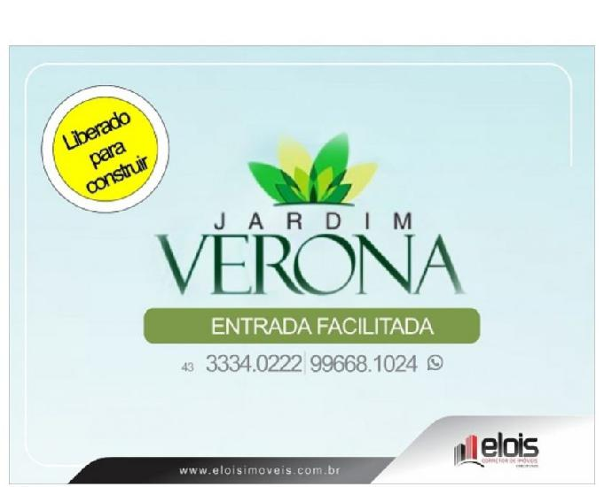 Lançamento de loteamento de terrenos e lotes Jardim Verona