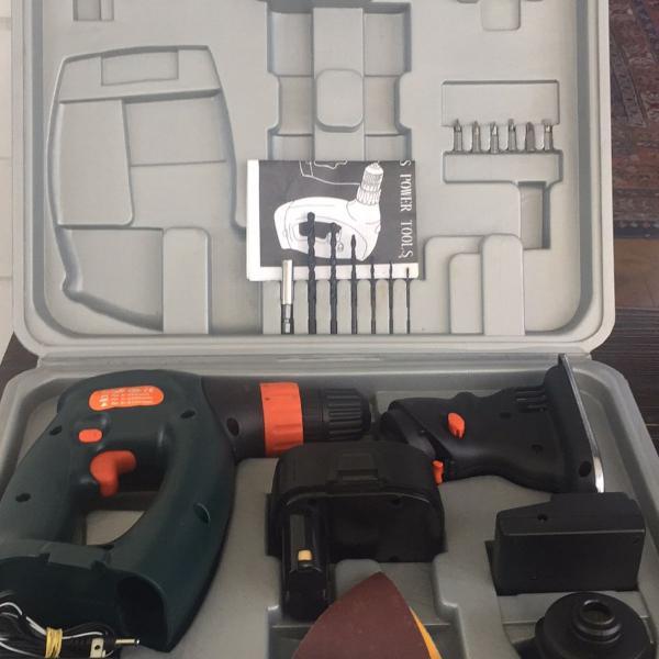 conjunto ferramentas sem fio