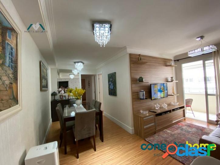 Apartamento de 80 m², 3 dormitórios 1 Vaga Varanda Gourmet