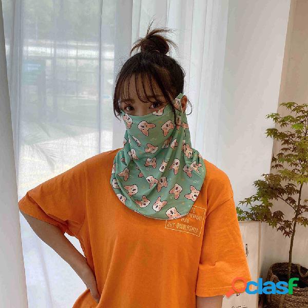 Mulheres Protetor solar Cobrindo o rosto Ice Silk