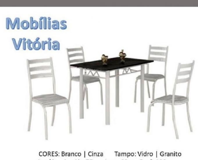 Conjunto de Mesa com 4 Cadeiras Ipanema