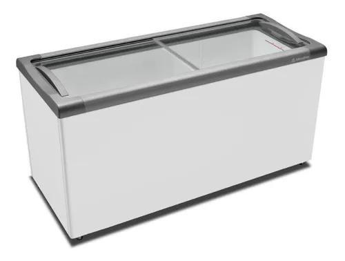 Freezer Horizontal Metalfrio Nf55 Tampa Vidro 491lts