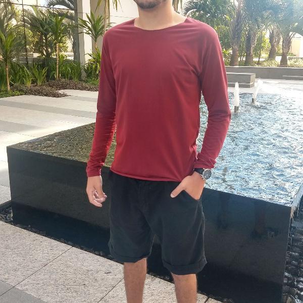 Kit c/ 2 Camisa de malha modelo Long