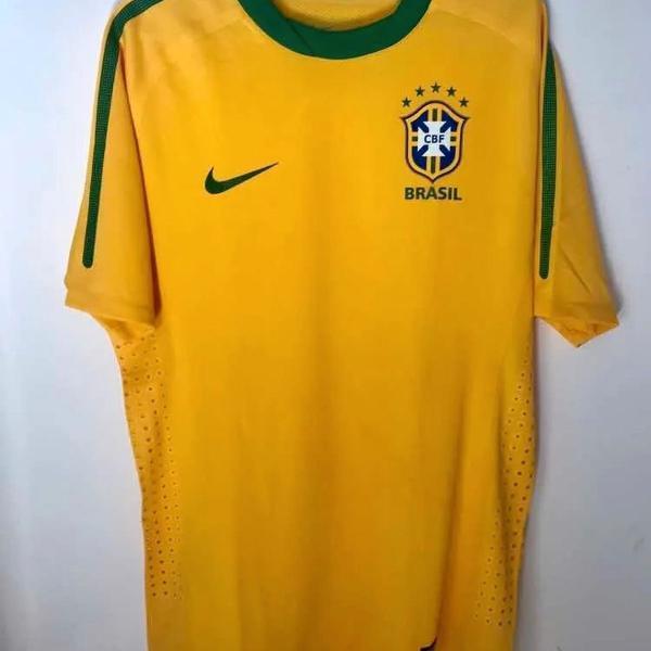 camisa seleção brasileira/brasil 2010 modelo jogador