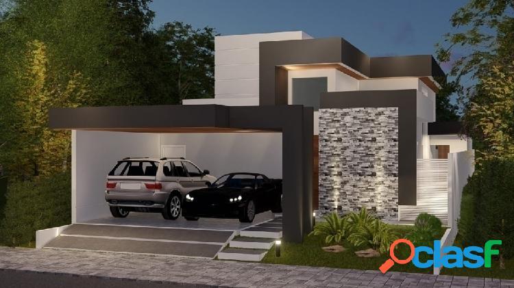Linda casa térrea em construção - Altos da Serra VI