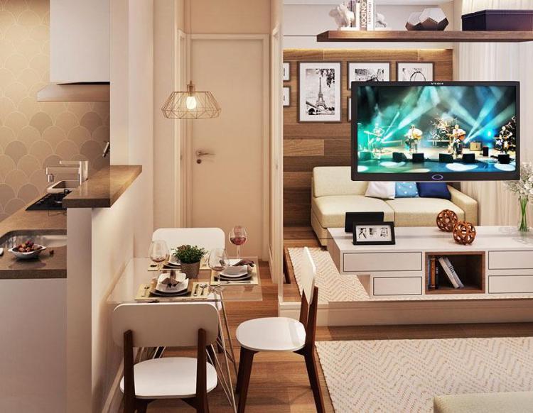 Apartamento de 34 m² com 2 quartos e 1 vaga, no Jardim