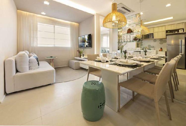 Apartamento de 45m², com 2 dormitórios e 1 vaga em Santos
