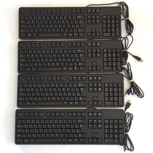 teclado dell usb kb212-b original kit 4 unidades