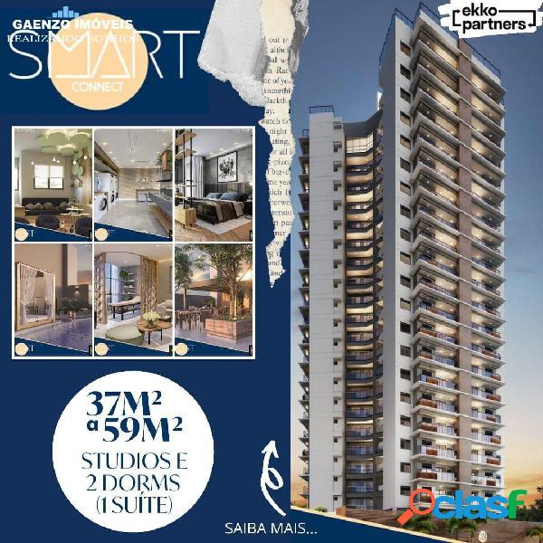 Smart Connect Apartamentos: 228 unidades 37m² a 59m²