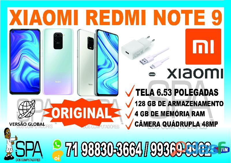 Xiaomi Redmi Note 9 128gb Versão Global em Salvador Ba (SPA