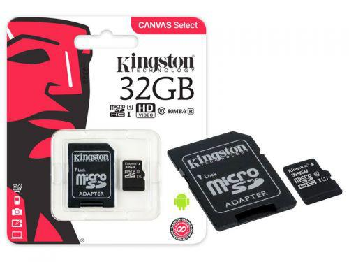 Cartao de Memoria Classe 10 Kingston SDCS\/32GB Micro SDHC