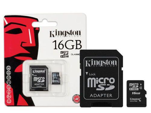 Cartao de Memoria Classe 4 Kingston SDC4\/16GB Micro SDHC