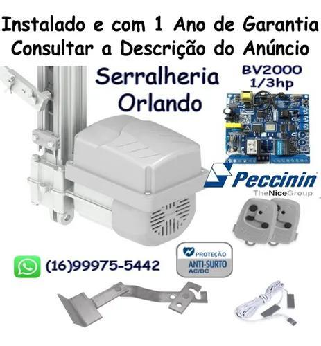 Instalação + Kit Motor Basculante Peccinin Nice Agile