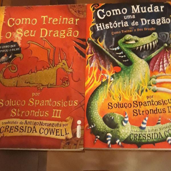 """Kit 2 livros """"Como treinar o seu Dragão"""""""