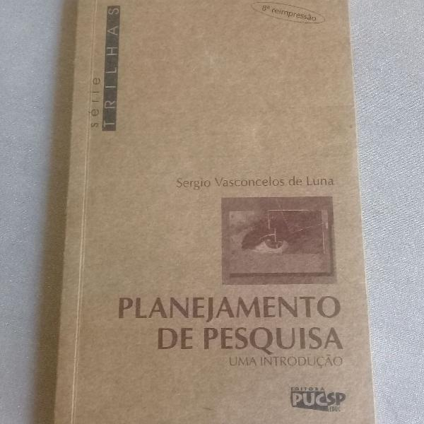 Livro - Planejamento de pesquisa - Sérgio Vasconcelos de