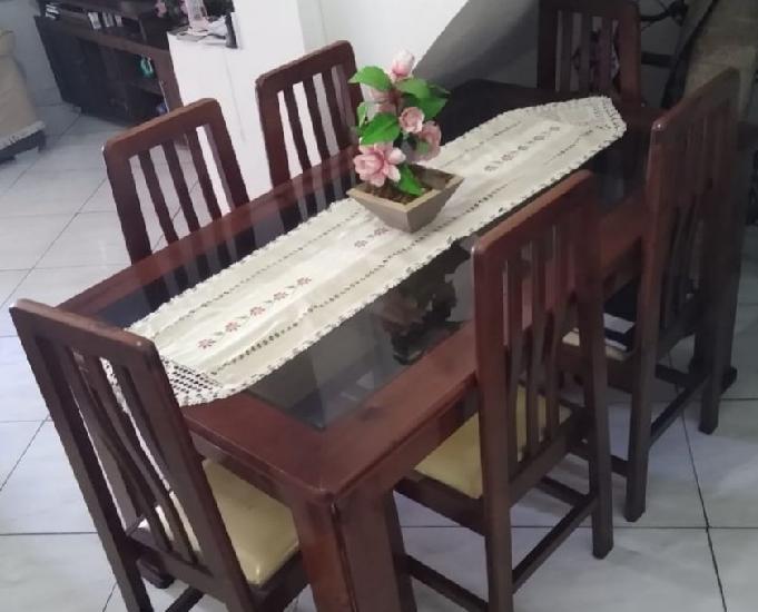 Mesa de jantar com 6 cadeiras - parcelo até 12x no cartão