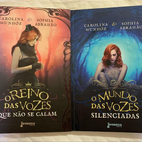 conjunto de livros o reino das vozes