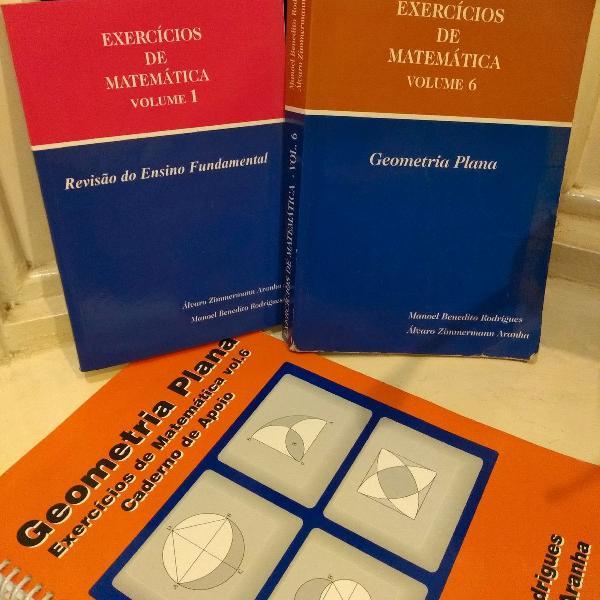 kit com livros de matemática ensino médio