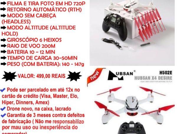 Drones em até 12x no Cartão de Crédito Com Câmera GPS