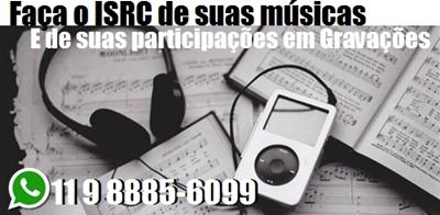 Fazemos o registro do ISRC de suas músicas e gravações
