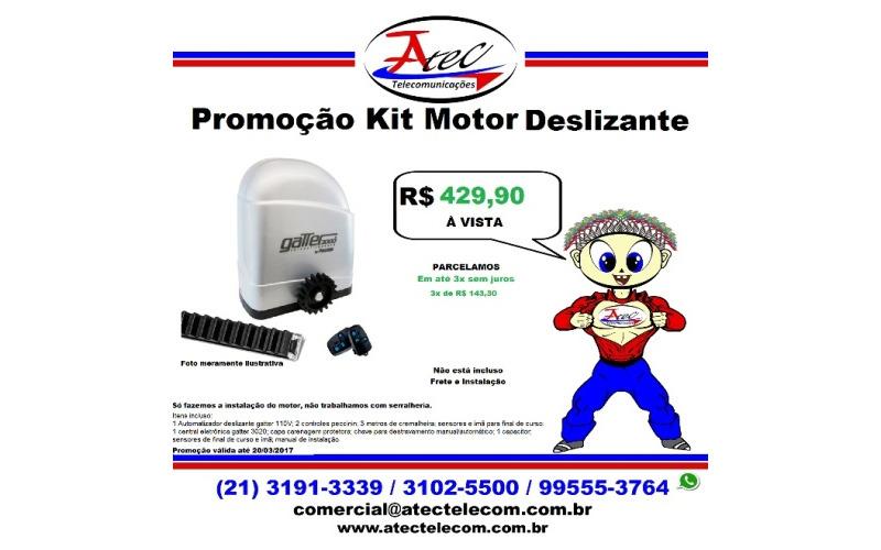 Promoção de um Kit Motor Deslizante